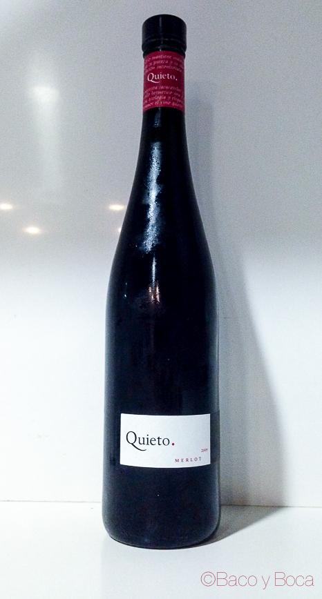 botella vino Quieto merlot baco y boca_