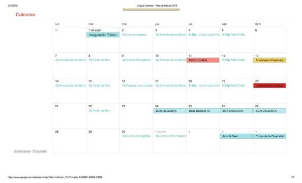 Google Calendar - Mes de Sept de 2015