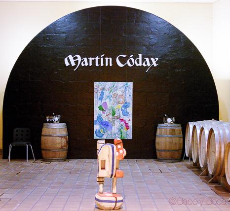 pared bodegas Martin Codax Baco y Boca