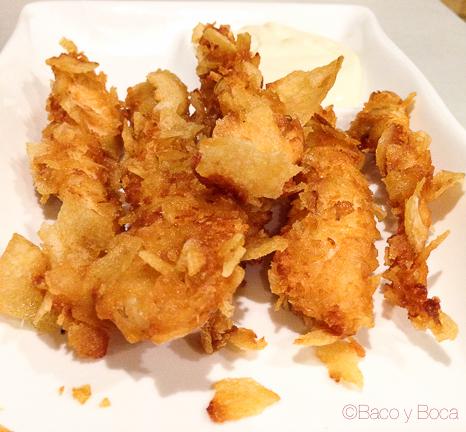 Rabas de pollo Pitapes Granollers baco y boca
