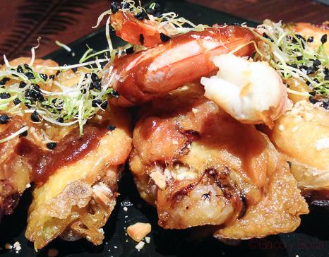 Alitas de pollo ponzu Restaurante Malgam Baco y boca
