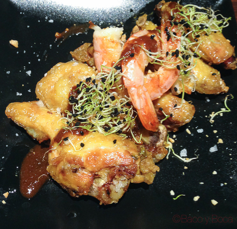Alitas de pollo Restaurante Malgam Baco y boca