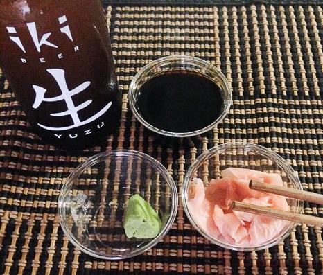 cerveza y salsas sushifresh baco y boca