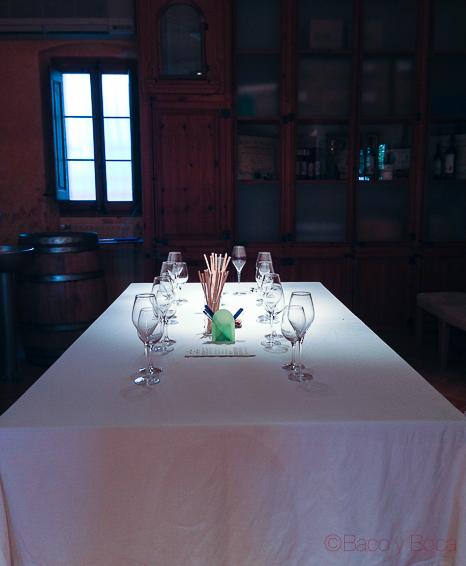 mesa cata Albet i Noya Baco y Boca
