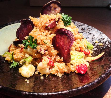 Solterito de Quinoa ensalada Tanta Barcelona gaston Acurio Baco y boca