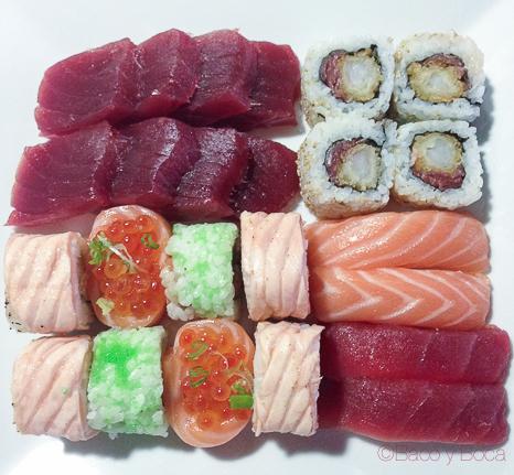 surtido gourmet sushifresh baco y boca