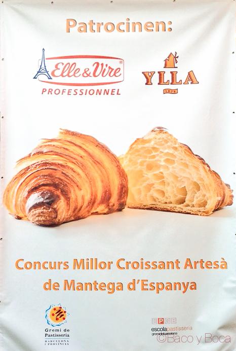 Cartel Mejor croissant artesano mantequilla 2015 baco y boca