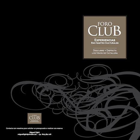 Foro club experiencias enoculturales Vinos y maridajes
