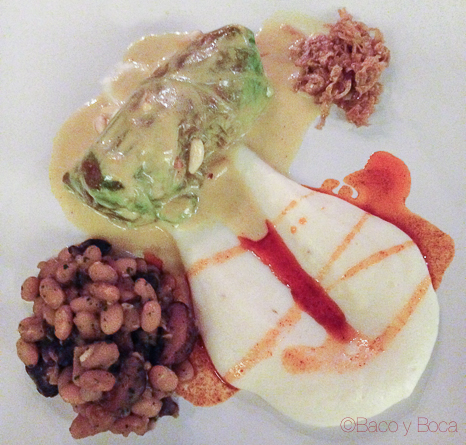Involtini de col con salsa thai y puré de patatas con Ratafía 62 escalones eatwith vegetariano bacoyboca