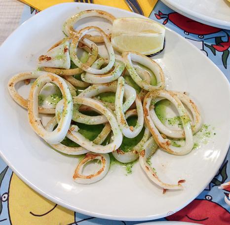 calamares plancha La paradeta paseo de gracia bacoyboca