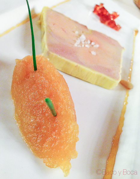 compota manzana y foie Brasserie Flo baco y boca