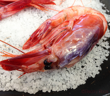 Gamba roja mercat del lleo baco y boca