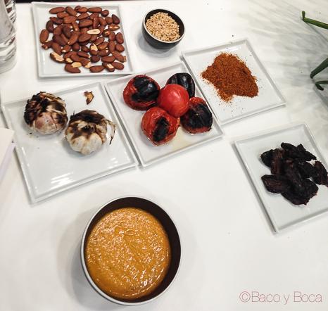 ingredientes salsa romesco baco y boca