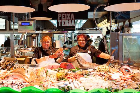Mercat Vell Sant Cugat peixateria