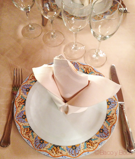 mesa Brasserie Flo baco y boca