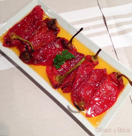 pimientos del menu tolosaldea jornadas bou Sagardi baco y boca