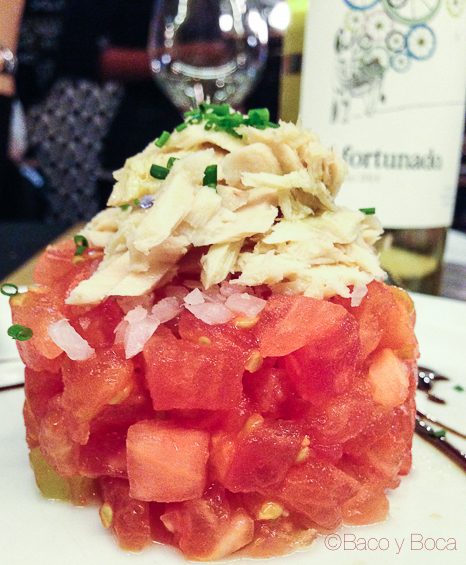 tartar tomate y atun en momento afortunado casa conxita baco y boca