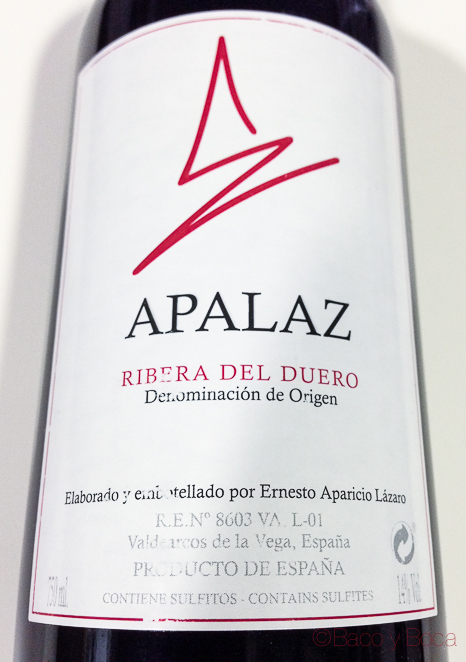 Apalaz Ribera de Duero wine to you bacoyboca