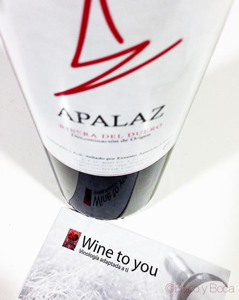 Apalaz Ribera de Duero y wine to you bacoyboca