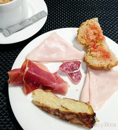 desayuno Hotel GranVia Barcelona baco y boca