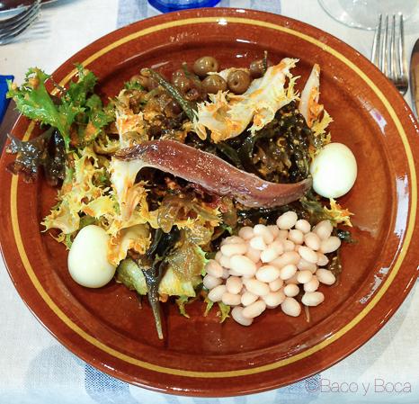 ensalada escarola La pepa del mar Sitges Baco y Boca origens garraf