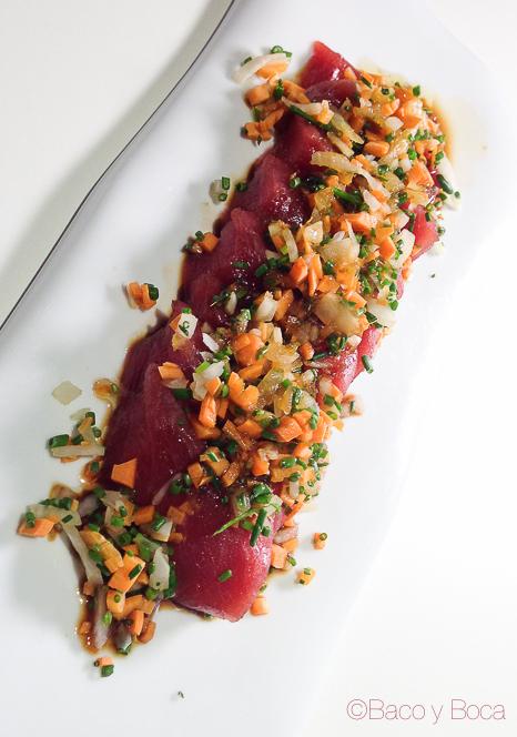 tiradito de atun miss sushi aribau baco y boca