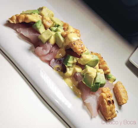 tiradito de corvina miss sushi aribau baco y boca
