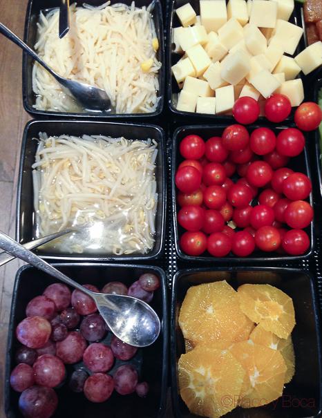 verduras y frutas Hotel GranVia Barcelona baco y boca