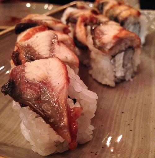 anguila sushifresh sake bacoyboca