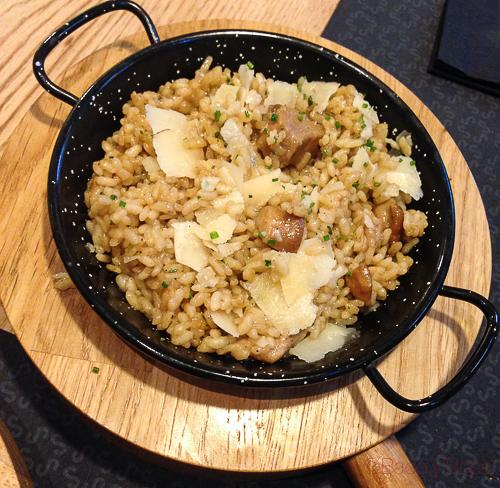 arroz con setas Singular Baco y Boca