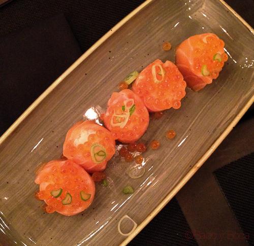 gunkan salmon sushifresh sake bacoyboca
