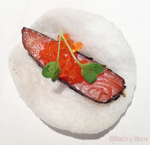 salmon DOP Baco y boca