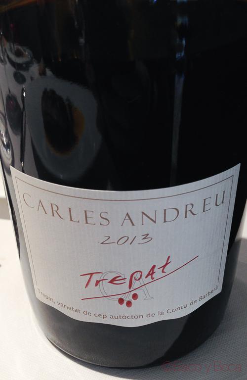 Vino Carles Andreu Trepat DOP Baco y boca