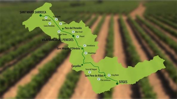 Foto Mapa La Carretera del Vino