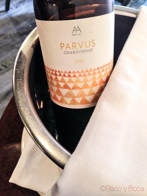 Parvus Chardonnay Alta Alella Tips Baco y Boca