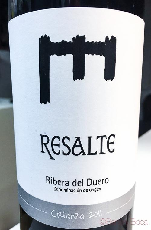 Resalte do Ribera de Duero crianza 2011 baco y boca