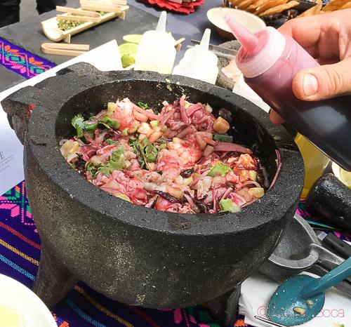 Aguachile Semana Gastronomica mejico rabanos Caprabo bacoyboca