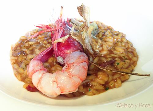 arroz meloso con gamba y alcachofa City bar baco y boca