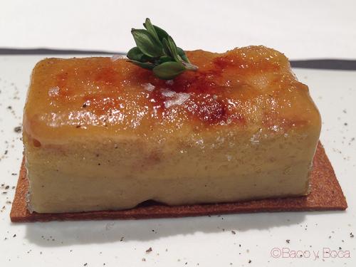 Foie micuit manzana a la vainilla Osmosis Baco y boca