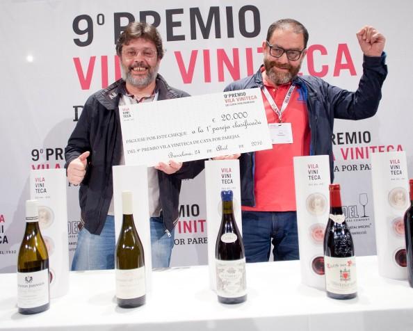 Ganadores del 9º Premio Vila Viniteca de Cata porparejas.