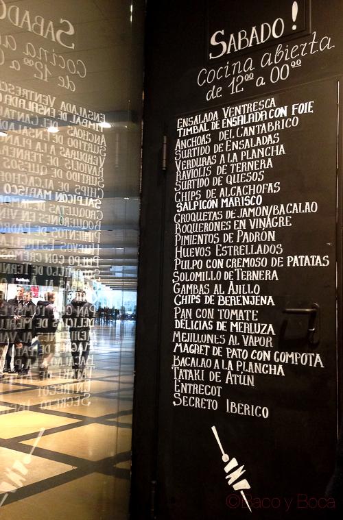 pizarra carta Bilbao Berria Illa baco y boca