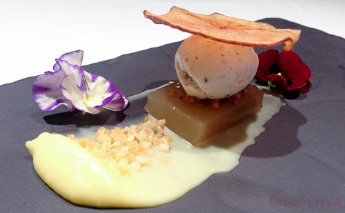 texturas de manzana con sidra y yogur de pimientas Osmosis Baco y boca