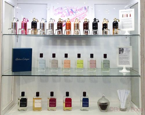 estantería perfumes maridaje a tres bandas baco y boca