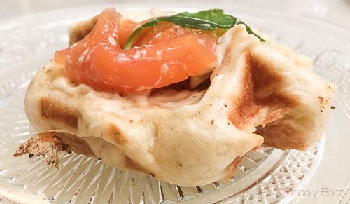 Gofre salmon Oriol Balaguer Baco y boca